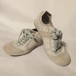 Diesel Leather Casual Sneakers Size 7 White Cream